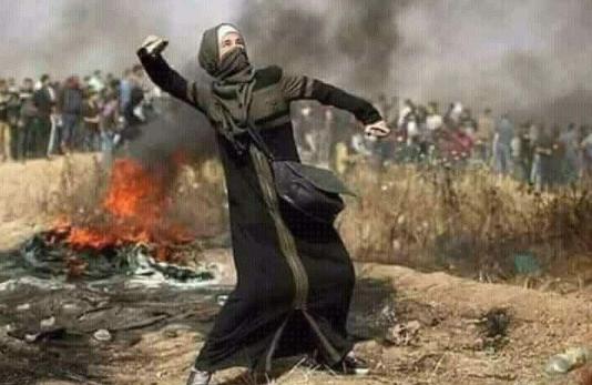 Hasil gambar untuk Four Palestinians killed at border protest; rockets from Gaza Strip hit Israel GIF